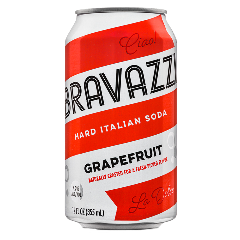 Bravazzi Hard Italian Soda Grapefruit